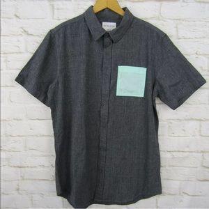 NWT Pacaun On the Byas Button Down Shirt M